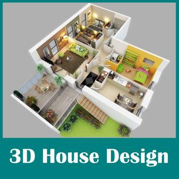 3D Minimalist House Plan poster