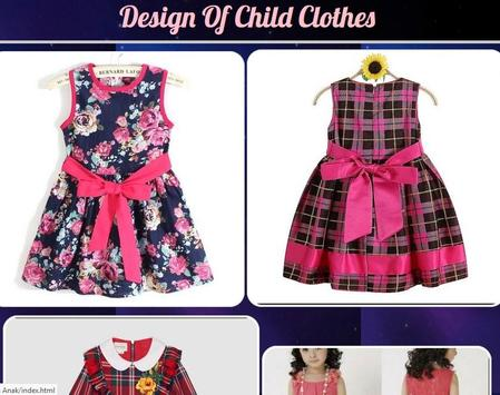 Design Of Child Clothes poster