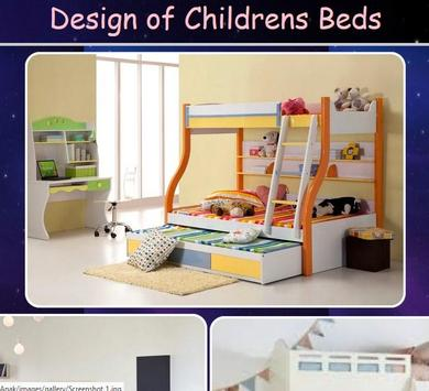Child Bed Design poster