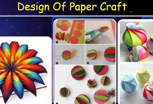 Design Of Paper Craft poster