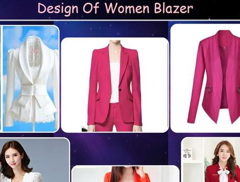 Design Of Women Blazer poster