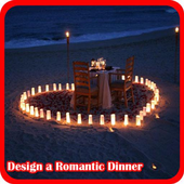 Design A Romantic Dinner icon