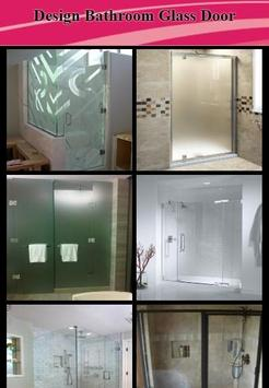 Design Bathroom Glass Door poster