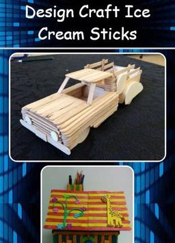 Design Craft Ice Cream Sticks Poster