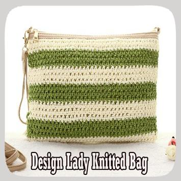 Design Lady Knitted Bag poster