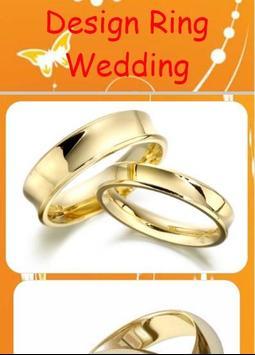 Design Ring Wedding poster