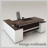 Design work desk / office icon