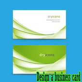 Design a business card icon