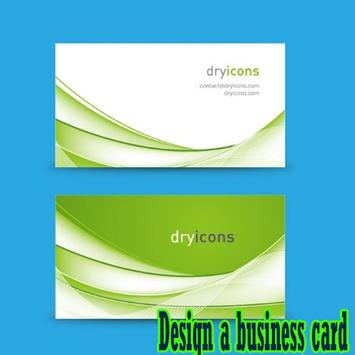 Design a business card poster