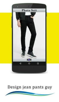 Design jean pants guy poster