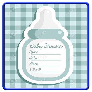 Baby Shower Invitation Card Design poster
