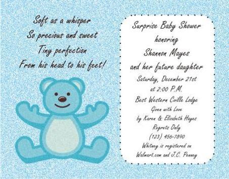 Baby Shower Invitation Card Design screenshot 1