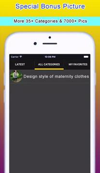 Design style of maternity clothes apk screenshot