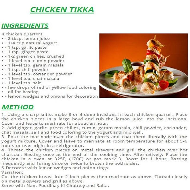 Chicken tikka english recipes descarga apk gratis comer y beber chicken tikka english recipes poster chicken tikka english recipes captura de pantalla de la apk forumfinder Choice Image