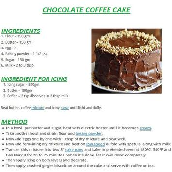 Chocolate Cake English Recipes poster