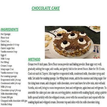 Chocolate Cake English Recipes screenshot 2
