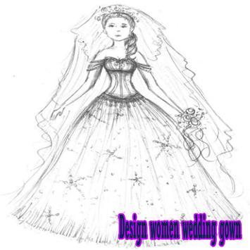 Design women wedding gown poster
