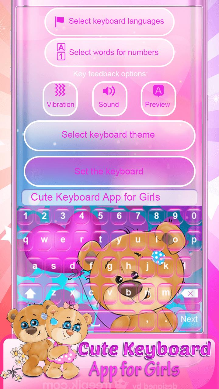 Cute Keyboard App for Girls for Android - APK Download