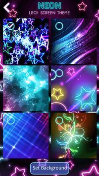 Neon Lock Screen Theme apk screenshot
