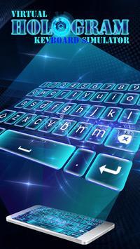 Virtual Hologram Keyboard Simulator poster