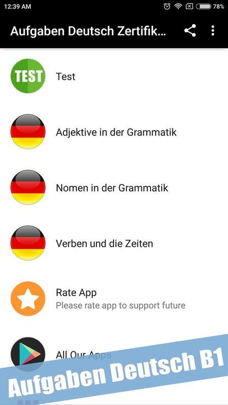 Aufgaben Deutsch Zertifikat B1 Prüfung For Android Apk Download