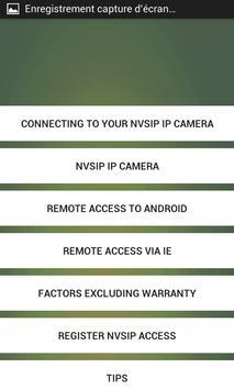 NVSIP  TIPS apk screenshot