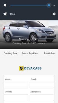 Deva Cabs - Mumbai Shirdi Pune apk screenshot
