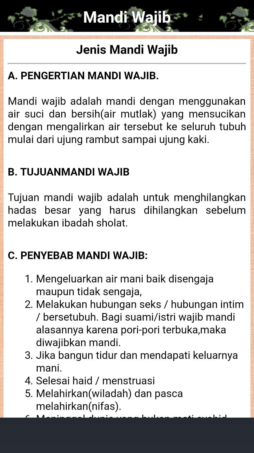 Tata Cara Mandi Wajib Dan Niatnya Yang Benar安卓下载 安卓版apk 免费下载