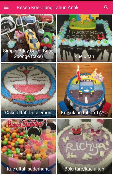 Resep Kue Ultah Anak For Android Apk Download