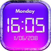 Digital Clock Live Wallpapers Free icon