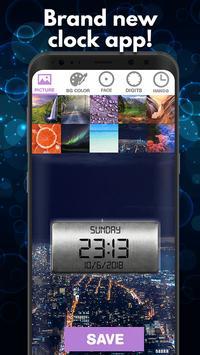 Digital Clock Live Wallpapers Free screenshot 1
