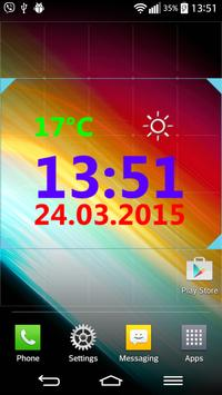 Digital Clock With Weather apk screenshot