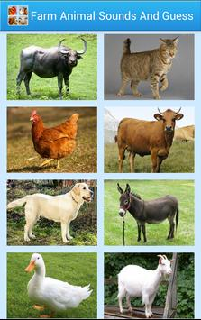 Farm Animal Sounds And Guess poster