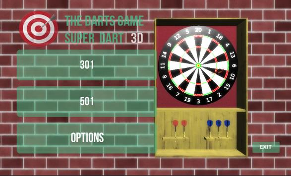 The Darts Game Super Dart 3D poster