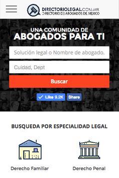 Directorio de Abogados Mexico poster
