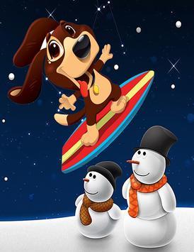 Dog surfer poster