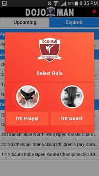 DojoMan Events apk screenshot