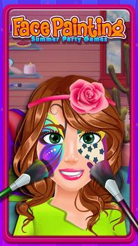 Face Painting Salon:Summer Party Games poster