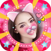Selfie Cat Face Filter Effect icon