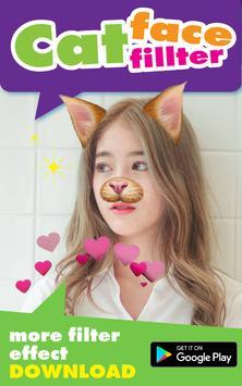 Selfie Cat Face Filter Effect poster