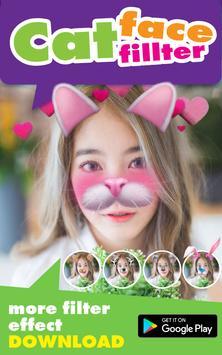Selfie Cat Face Filter Effect screenshot 1