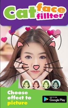 Selfie Cat Face Filter Effect screenshot 2