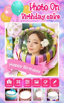 Photo On Birthday Cake App poster