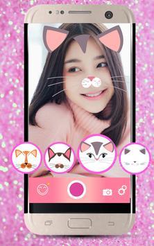 Selfie Cat Face Filters Camera screenshot 1