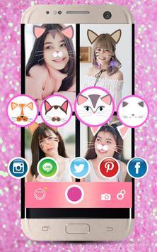 Selfie Cat Face Filters Camera screenshot 2