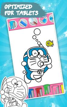 Coloring Book Dorae Cat Screenshot 11