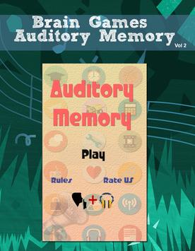 Brain games - Auditory Memory poster