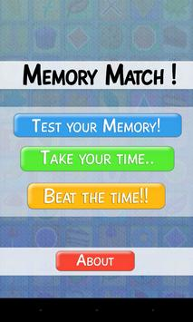 Memory Match! apk screenshot