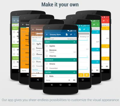 Shopping List - Lister apk screenshot