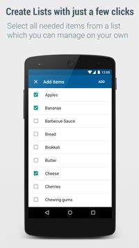 Shopping List - Lister apk screenshot